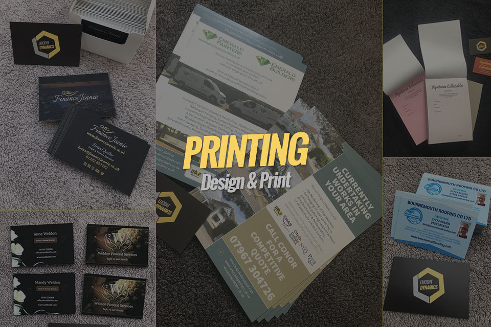 Printing Services Bournemouth, Poole, Christchurch by Lucent Dynamics