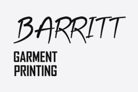 Barritt Garment Printing Logo - Client of Lucent Dynamics Website Design in Bournemouth, Poole and Christchurch
