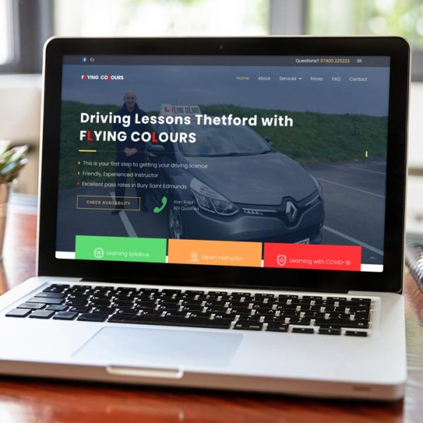 Flying Colours Driving Lessons Website by Lucent Dynamics Bournemouth