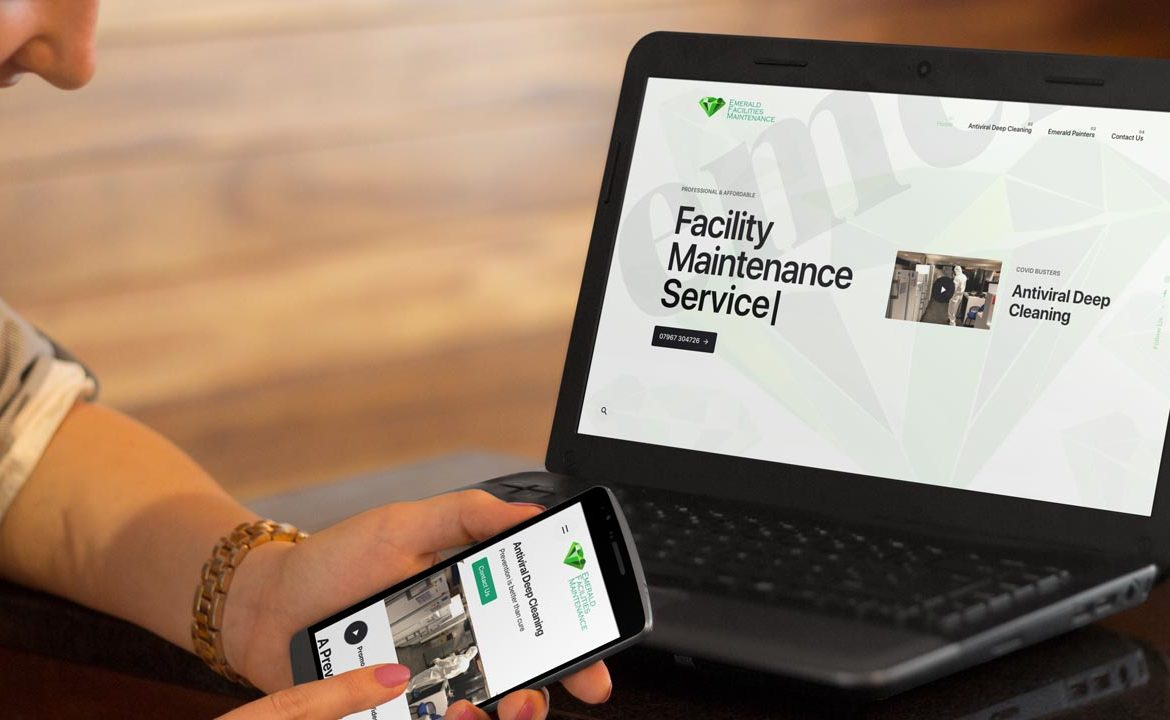 Emerald Facilities Maintenance Website by Lucent Dynamics Bournemouth