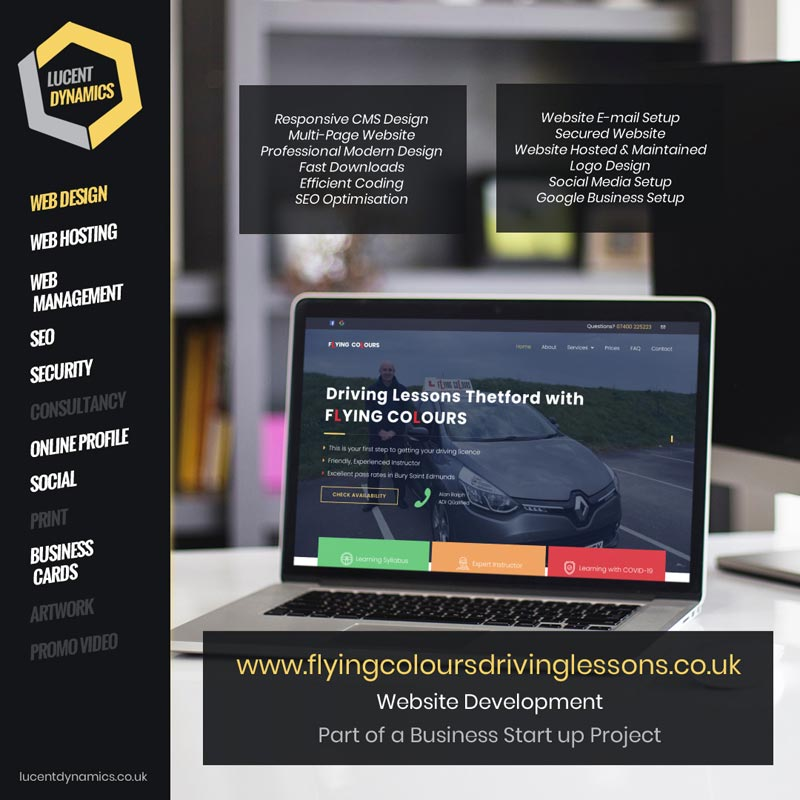 Flying Colours Website Development Project by Lucent Dynamics Bournemouth
