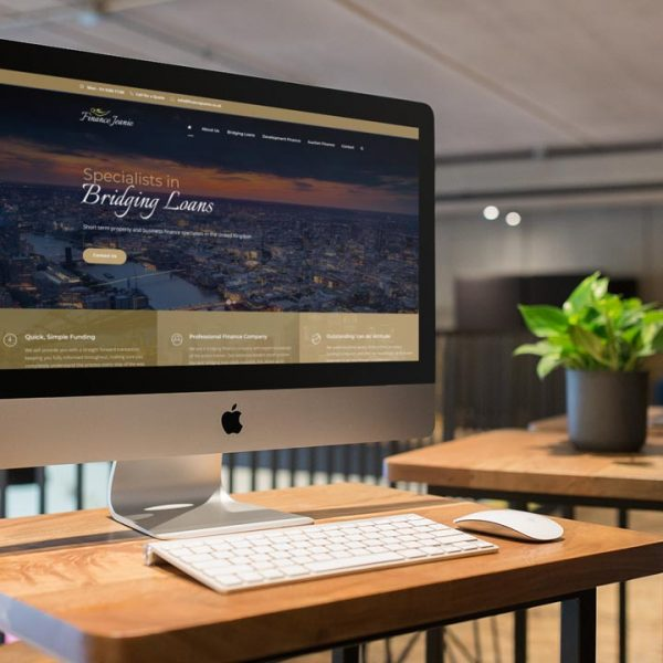 Finance Jeanie Website by Lucent Dynamics Bournemouth