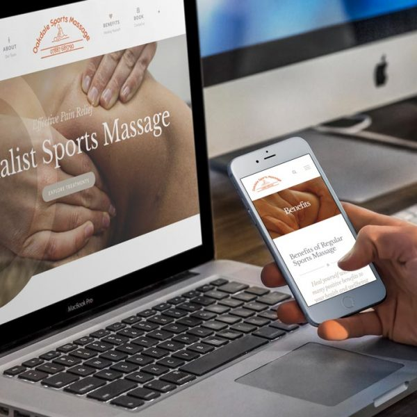 Oakdale Sports Massage Website Design by Lucent Dynamics Bournemouth
