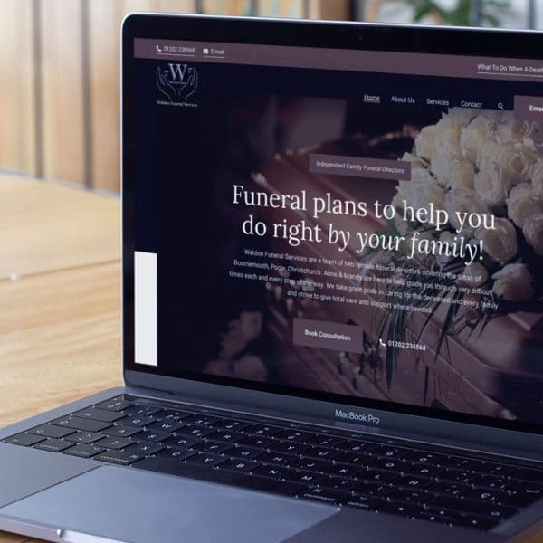 Weldon Funeral Services Website Design by Lucent Dynamics Bournemouth