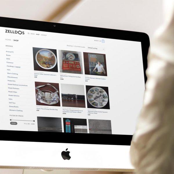 Zelldos Online Shop Ecommerce Website Design by Lucent Dynamics Bournemouth